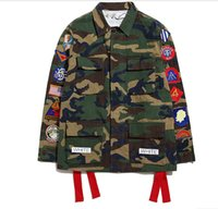 Wholesale Fall Off White Virgil Abloh Kanye West Camouflage Navajo Field Off White Jacket Camo Military Jackets Coats Off White Virgil Abloh