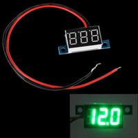Wholesale LED Panel Mini Wires Digital Display Voltage Meter Voltmeter Voltimetro DC V Yellow Green Red Blue Light