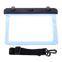 Wholesale High Transparency Water resistance Protective Bag Case Waterproof Wallet Shell with Belt for Apple iPad mini Tablet in order lt no