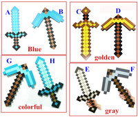Wholesale Colorful Minecraft Diamond Sword Pickaxe Minecraft Foam Mosaic Toy For Kids Children