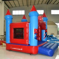amusement equipment - AOQI amusement park equipment commercial use spider man theme outdoor inflatable jumping castle for kids made in China