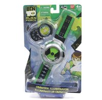 Wholesale BANDAL Bandai Ben10 protector of earth projection watch children cartoon watches kids cartoon ben cartoon network