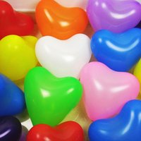 advertising ballons - Thickened Active Atmosphere Heart Shaped Balloon Party Birthday Wedding Advertising Fun Festival Decoration Ballons