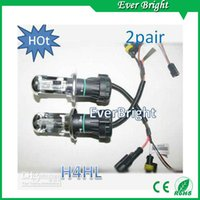 Bulb hid headlights - china pair HID W Car Xenon HID H4 Hi Lo K k Beam Bulb foglight headlights fog light xenon light