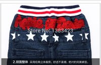 Wholesale new fashion to years old autumn winters han edition stars letters jeans boys and girls children s wear pants NANTONGQ006