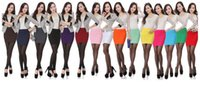 Wholesale Short Tight Sexy White Dresses - Women's Sexy Pencil Pleated Stretch Skirt Dress High Waist Short Skirt Slim Seamless Tight Hips Mini Skirts Multi Colors