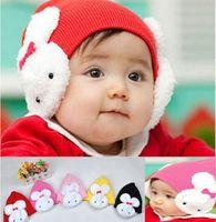 beanie ear flaps - Baby Toddler Kids Girls Boys Winter Ear Flap Warm Hat Beanie Cap Crochet Rabbit