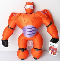 Wholesale 38cm BIG HERO Orange BAYMAX ROBOT soft Plush Stuffed Toy Dolls Kids Xmas Gift