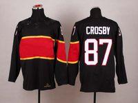 Cheap Hot #87 Sydney Crosby Black Jersey 2014 Sochi Olympic Team Hockey Jersey Brand Ice Hockey Jerseys Men Uniforms Jersey Cheap Sports Wears