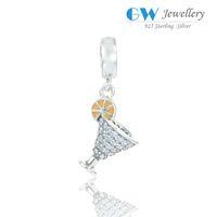 antique glass beads - Crystal glasses beads charms pendants antique silver fits DIY bracelet necklace fashion hot sale S184I6