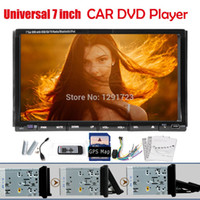 Android car audio dvd - New GPS MAP Universal inch Double DIN Car DVD player Stereo Bluetooth iPod TV RDS FM Mic Car Audio Android Optional Radio Car DVD Vid