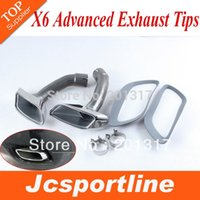 Wholesale E71 X6 END TIPS EXHAUST MUFFLER AUTO CAR RETROFIT TAIL PIPES For BMW X6 E71 D D D