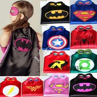 Wholesale 20Pcs Superhero cape Superman cape Super Hero Costume for Children Halloween Christmas Party Costumes for Kids Children s Costume