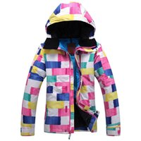 Wholesale camo ski snowboard board waterproof jacket womens clothing suit jackets and coats mountain skiing and snowboarding snow suits