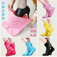 bearcat boots - 2016 Brand New Women Fashion Rain Boots Cover Thickening Bearcat Slip resistant Rainboots Set Water Shoes Jelly Colors TS48