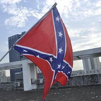 Wholesale 90cm cm Flags Two Sides Printed Flag Confederate Rebel Civil War Flag National Polyester Flag X FT