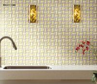 wall cladding - Wall mounted metal mosaic tile glass mosaic tile mixed mosaic meshes wall cladding tiles glossing