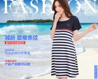 Wholesale Pregnant women are out of spring and summer lactation clothes wear pajamas clothing contact Home Furnishing confinement feeding clothing str