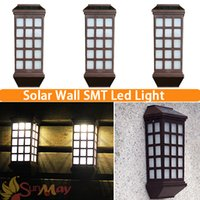 yard fence - Solar Power SMT Led Outdoor Solar Panel LED Solar Light Solar Lamp Pathway Up Stair Wall Garden Fence Yard Wall