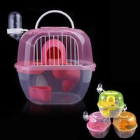 Wholesale New Arrival Transparent Plastic Hamster Gerbil Mouse House Level Hamster Cage Cute Gerbil Mouse Mouse Playhouse Nest BHU2