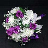 wedding rose petals cheap - wedding bouquets Satin lace artificial flowers for decoration cheap wedding decorations wedding rose petals