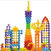 Wholesale Hot Sale Kid Baby Educational Toys Multicolor Snowflake Creative Building Blocks For Child DIy Assemblage Toy TY559