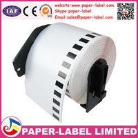 adhesive label roll - brother DK DK22205 DK DK DK DK2205 DK205 Compatible Thermal barcode label roll adhesive