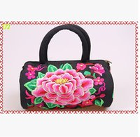 chinese bags - Ms embroidery hand bag handbag Yunnan Ethnic Chinese style handbag