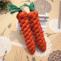 Wholesale Dog toys pet carrot toy hand woven cotton rope pet toy dog teeth cleaning toys pet products