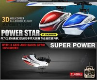 Wholesale Newest WLtoys V977 Brushless CH RC Helicopter V966 Power Star X1 G D Flybarless build in A xis Gyro VS V922 V933