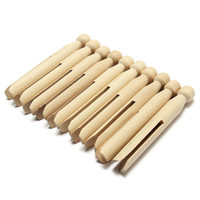 Wholesale Wooden Parts Clothes Doll Pins Clips Old Fashioned Pegs Doll Making Craft CM Long