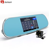 "Cheap 5.0"" Touch Android Rearview Mirror Car GPS navigation 1080P car dvr Dual camera Rear view FM Truck gps Navigator sat nav Silver"