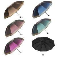 Wholesale Women Super Windproof Anti UV Parasol Sun Rain Protection Folding Umbrella