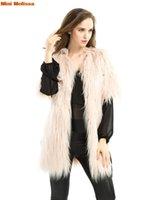 artificial fur vest - mini melissa women winter faux fur vest Shaggy coat artificial fashion jacket overcoats parka plus size gilet pelliccia