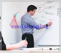 Wholesale DHL Freeshipping Office cm Vinyl Whiteboard Sticker Removable Mini Whiteboard Wall Sticker office home sticker