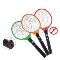 mosquito racket - CE certificated Rechargeable LED Electric Insect Bug Fly Mosquito Zapper Swatter Killer Racket Safe layer Net