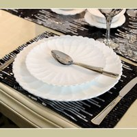 Wholesale Hannisidun L European neo classical white lace ceramic plate disk size suit Western model room