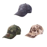 military hats - Men Women Military Tactical Cap Bionic Camouflage Sun Hat Baseball Cap Outdoor Hunting Camping Hiking Cycling Peaked Cap Y0621