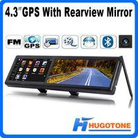 avi navigator - 4 quot Car GPS Rearview Mirror GPS Navigator WinCE Games FM Video GB Free IGO Maps MHZ Video AVI MP4 MP3