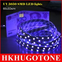 Wholesale 5M UV Led Strip led light SMD5050 DC12V led lights Flexible Ribbon String Led Tape Purple Ultraviolet Ray Better Than christmas lights