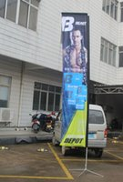 Wholesale Custom printing double side advertising flag flying banner beach flag feather falg for trade show exhibition display promotion