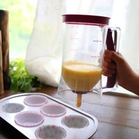 Wholesale Baking Essentials Tool Cake Batter Dispenser Cupcake Measuring Cup ML Large Purple Color With Retail Box