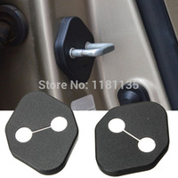 accord carbon fiber - 2x Black Auto Car Door Lock Protective Cover Kit For Toyota for Honda Accord For Civic