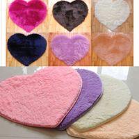 Wholesale 40 cm Non slip Bedroom Floor Mat Fluffy Soft Plush Area Rug Dining Room Carpet