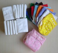 Wholesale Hot sales Adjustable Reusable Washable Baby Cloth Diaper Nappy inserts