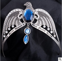 Wholesale Harry Potter Deathly Hallows Prom Ravenclaw Diadem Tiara Crown Harry Potter Lost Crown Blue Crystal Ravenclaw Crown Horcrux Headdress m1025