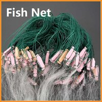 Wholesale Portable m Layers Monofilament Chemical Fiber Fish Net with Float Baits Cast Shrimp Minnow Crab Gill Fishing DHL