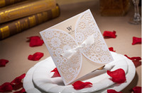 best new years cards - Best Selling Popular White Color Laser Cut Wedding Invitation Card With Envelope and Seal