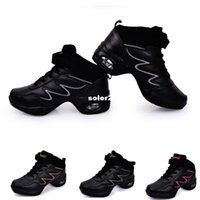 Wholesale Jazz dance shoes leather women Genuine Leather dancing shoes platform sport dance sneakers zapatillas zapatos de baile