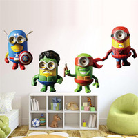 Wholesale 2015 New D Minions Despicable Me Wall Sticker Kids Room Cartoon Avengers TMNT Wall Decal Home Decoration WallPaper Art Poster